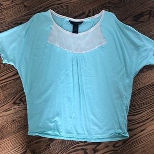 Calvin Klein Over Sized Aqua T with Neck Decal